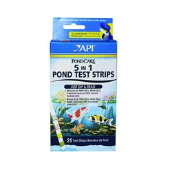 API PC 5 in 1 Pond Test Strips (25 полосок) - Полоски 5 в 1 для экспресс-тестов прудовой воды - фото 17341