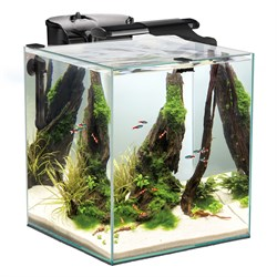 AQUAEL Shrimp Set DUO LED 49л аквариум черный, 35х35х40см - фото 17911