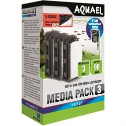 AQUAEL Картридж сменный для Versamax mini с углём (3 шт.) - фото 18050