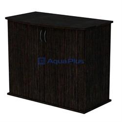 Aquaplus тумба фигурная 80*35*72, цвет венге, с 2 дверками ДСП - фото 18355