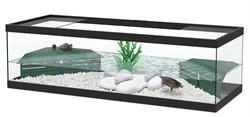 Aquatlantis TORTUM 100 - Аквариум для черепах, 100х40х30 см, черный + фильтр - фото 18399