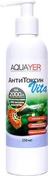 Aquayer АнтиТоксин Vita 250 мл - Комплексный кондиционер для воды с витамином В1 - фото 18441