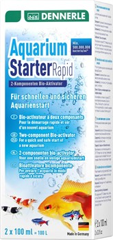 Dennerle Aquarium Starter Rapid 2х100 мл - двухкомпонентный биоактиватор аквариума - фото 18671