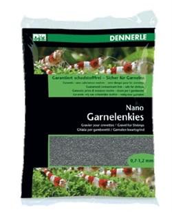 Dennerle Nano Garnelenkies - грунт для мини-аквариумов, цвет Arkansas grеу (серый), фракция 0,7-1,2 мм., 2 кг. - фото 18781