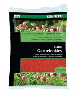 Dennerle Nano Garnelenkies - грунт для мини-аквариумов, цвет Indian red (красный), фракция 0,7-1,2 мм., 2 кг. - фото 18784