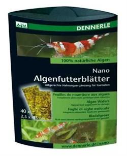Dennerle NanoAlgenfutterblatter-дополнительный корм для креветок в виде 'листков' из водорослей 40шт - фото 18799