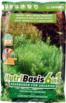 Dennerle NutriBasis 6-in-1 2,4 кг  - Грунтовая подкормка для аквариумных растений, пакет для аквариумов - фото 18819