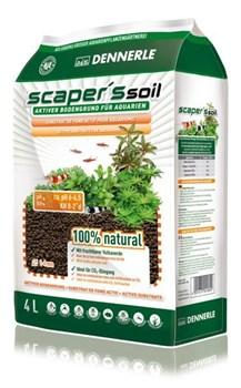 Dennerle Scaper's Soil - Питательный грунт для растительных аквариумов, зерно 1-4 мм, 4 л - фото 18854