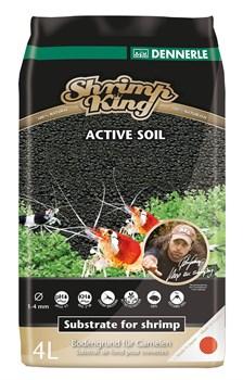 Dennerle Shrimp King Active Soil 4 л - активный донный грунт для пресноводных аквариумов с креветками - фото 18866