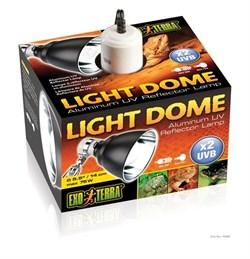 Hagen Exoterra Light Dome - светильник для ламп накаливания и компактных люминесцентных ламп, диаметр - 14 см - фото 19372
