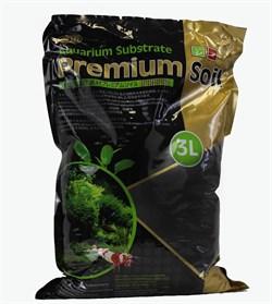ISTA Premium Soil Субстрат для аквариумных растений и креветок премиум класса 3л,  гранулы 3,5мм - фото 19646