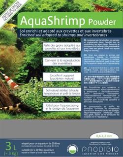Prodibio AquaShrimp Powder Soil 3 л - питательный почвенный грунт для аквариума с креветками 0,6-1,2 мм - фото 20611