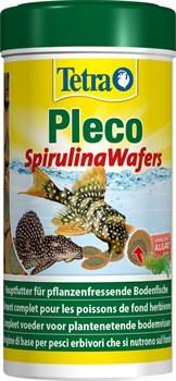 Tetra Pleco Spirulina Wafers 250 мл - корм для крупных травоядных донных рыб - фото 22540