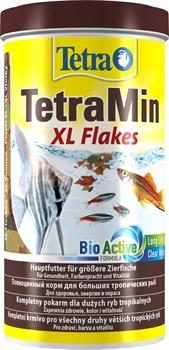 TetraMin XL 1л (крупные хлопья)  - универсальный корм для рыб - фото 23064