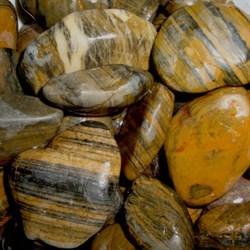 Грунт для аквариума галька шлифованная тигровая, 20-40 мм, 1 кг - фото 23463