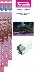 Arcadia Tropical Sunlight 15 Вт (45 см) - люминесцентная лампа, имитирующая дневной свет для аквариума - фото 23661