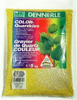 Dennerle Color-Quarz - цветной аквариумный грунт, гравий фракции 1-2 мм, цвет желтый, 5 кг. - фото 23773