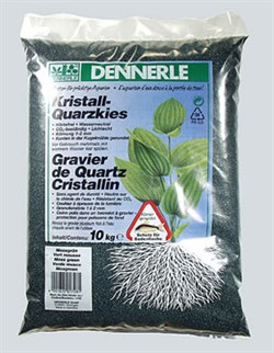 Dennerle Kristall-Quarz - аквариумный грунт, гравий фракции 1-2 мм, цвет темно-зеленый (цвет мха), 10 кг. - фото 23781