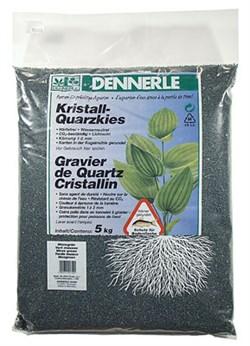 Dennerle Kristall-Quarz - аквариумный грунт, гравий фракции 1-2 мм, цвет темно-зеленый (цвет мха), 5 кг. - фото 23782
