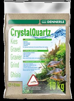 Dennerle Kristall-Quarz - аквариумный грунт, гравий фракции 1-2 мм, цвет природный белый, 10 кг. - фото 24666