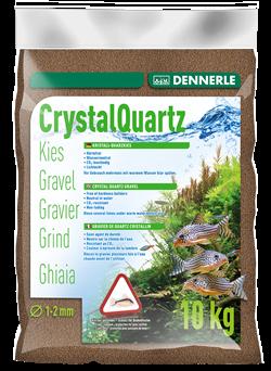 Dennerle Kristall-Quarz - аквариумный грунт , гравий фракции 1-2 мм, цвет темно-коричневый, 5 кг. - фото 24670