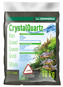 Dennerle Kristall-Quarz - аквариумный грунт, гравий фракции 1-2 мм, цвет черный, 5 кг. - фото 24676