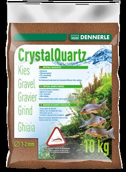 Dennerle Kristall-Quarz - аквариумный грунт, гравий фракции 1-2 мм, цвет светло-коричневый (цвет косули), 5 кг. - фото 24681