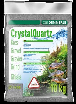 Dennerle Kristall-Quarz - аквариумный грунт, гравий фракции 1-2 мм, цвет сланцево-серый, 10 кг. - фото 24682