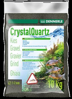 Dennerle Kristall-Quarz - аквариумный грунт, гравий фракции 1-2 мм, цвет черный, 10 кг. - фото 24684