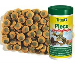 Tetra Pleco SpirulinaWafers 485г (соответствует объёму 1 л) на развес - корм для крупных травоядных донных рыб - фото 25033
