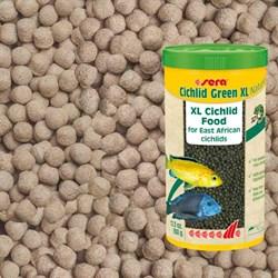 sera Cichlid Green XL 360г (соответствует объёму 1 л) на развес - гранулы для крупных травоядных цихлид - фото 25044