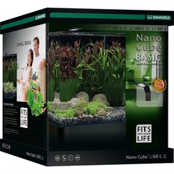 Dennerle NanoCube Basic 60 Style LED L - Нано-аквариум с базовым комплектом для установки и светильником Nano Style LED L, 38x38x43 см, 60 л - фото 25279