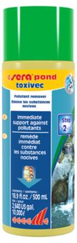 sera pond Toxivec 500 мл - средство для устранения токсинов в прудовой воде - на 10.000 литров воды - фото 25709