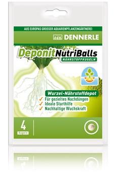 Dennerle Deponit NutriBalls 4 шт, - Корневое удобрение в виде шариков для любых аквариумных растений - фото 25913