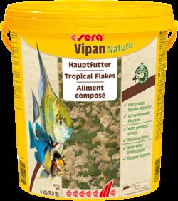 sera Vipan Nature 21 л (ведро) - универсальный корм для аквариумных рыбок (крупные хлопья) - фото 25978