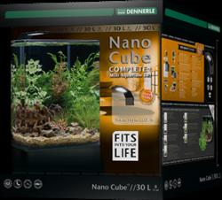 Dennerle NanoCube Complete+ 30 Style LED M - Нано-аквариум с расширенным комлектом для установки и светильником Nano Style LED M, 30x30x35 см, 30 л - фото 26001