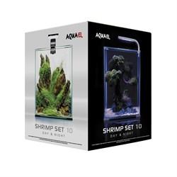 AQUAEL Shrimp set Smart LED Day/Night 10 л - аквариум с набором оборудования, белый - фото 26053