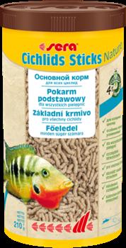 sera Cichlids Sticks Nature 1 л - корм в палочках для всех видов цихлид и других крупных рыб - фото 26362