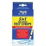 API Aquarium Test Strips 5 in 1 (25 полосок) - Полоски для экспресс-тестов аквариумной воды 5 в 1