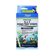 API PC 5 in 1 Pond Test Strips (25 полосок) - Полоски 5 в 1 для экспресс-тестов прудовой воды