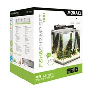 AQUAEL Shrimp Set DUO LED 49л аквариум белый, 35х35х40см