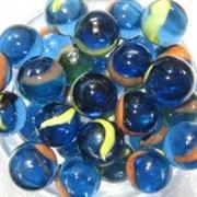 AquaMarbles Шарики голубые перламутровые  Shiny сетка 200г
