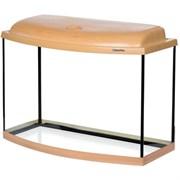 Aquaplus аквариум 70 л фигурный (60*30*40), цвет бук + крышка, лампа 1*15Вт, стекло 5/5