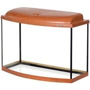 Aquaplus аквариум 70 л фигурный (60*30*40), цвет груша + крышка, лампа 1*15Вт, стекло 5/5