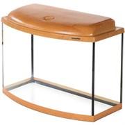 Aquaplus аквариум 70 л фигурный (60*30*40), цвет ольха + крышка, лампа 1*15вт, стекло 5/5