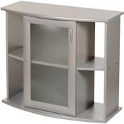 Aquaplus тумба фигурная 100*40*70, цвет металлик, с 1 тонированной стеклянной дверцей+МДФ