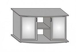 Aquaplus тумба фигурная 120*40*70, цвет груша, с двумя тонированными стеклянными дверцами+МДФ