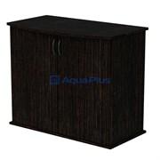 Aquaplus тумба фигурная 80*35*72, цвет венге, с 2 дверками ДСП