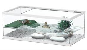 Aquatlantis TORTUM 55 - Аквариум для черепах, 55х30х20 см, белый
