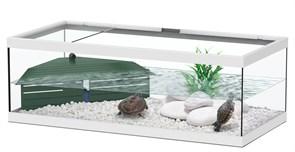Aquatlantis TORTUM 75 - Аквариум для черепах, 75х36х25 см, белый + фильтр